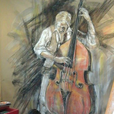 Street Musician –The Double Bass Player