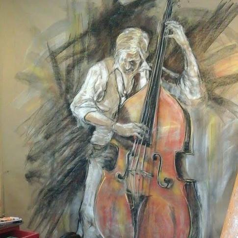 Street Musician –The Double Bass Player