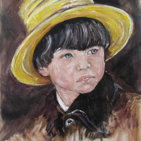 Boy with yellow hat
