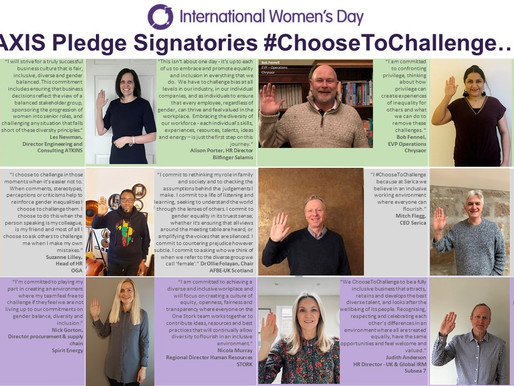 AXIS Pledge Signatories #ChooseToChallenge