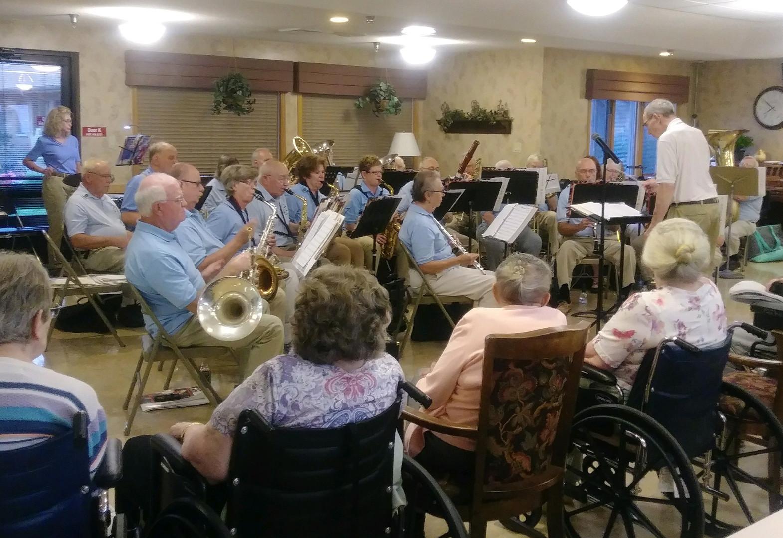 seniors listening to music
