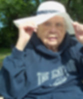 Senior wearing a sun hat