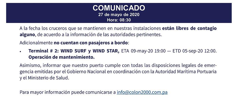 2020_05_27  PortColon2000 Comunicado_02A