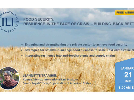 Food Security: Resilience in the Face of Crisis - Building Back Better