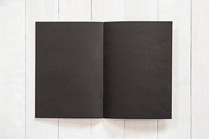 Blank A4 size black book template mock u