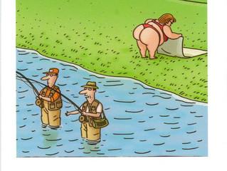 A couple of cartoon gags