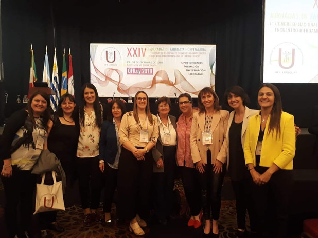 Grupo de trabajo casi completo de OFIL Uruguay.