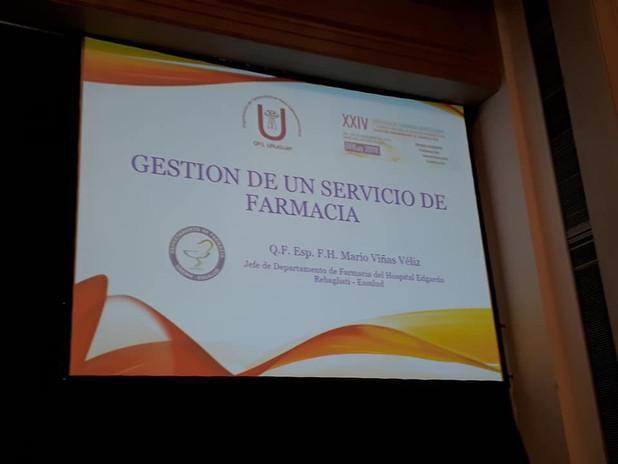 Gestión de un servicio de Farmcia. Q.F. Mario Viñas