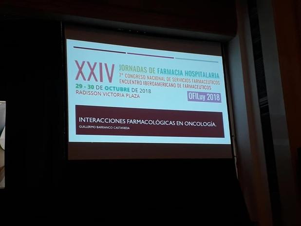 Interacciones farmacologicas en oncología. Guillermo Barranco