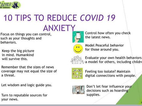 10 Tips To Reduce COVID 19 Anxiety