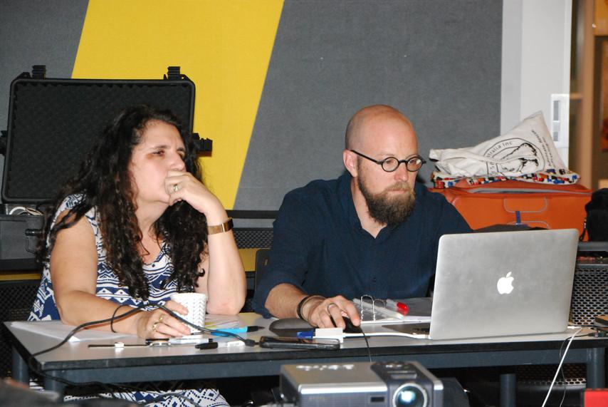 Michelle Nachsatz (Lighting & Video Operator) & Russell Goldsmith (Producton Design)