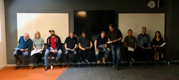 The Cast ... rehearsals