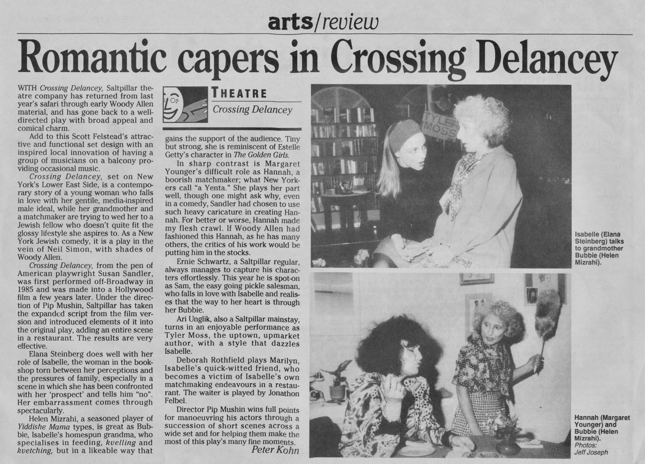 Crossing Delancy 1992