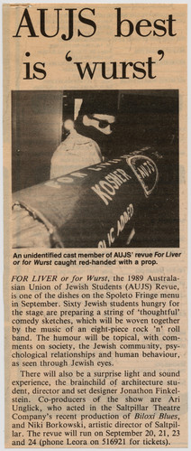 AUJS For Liver Or For Wurst 1989