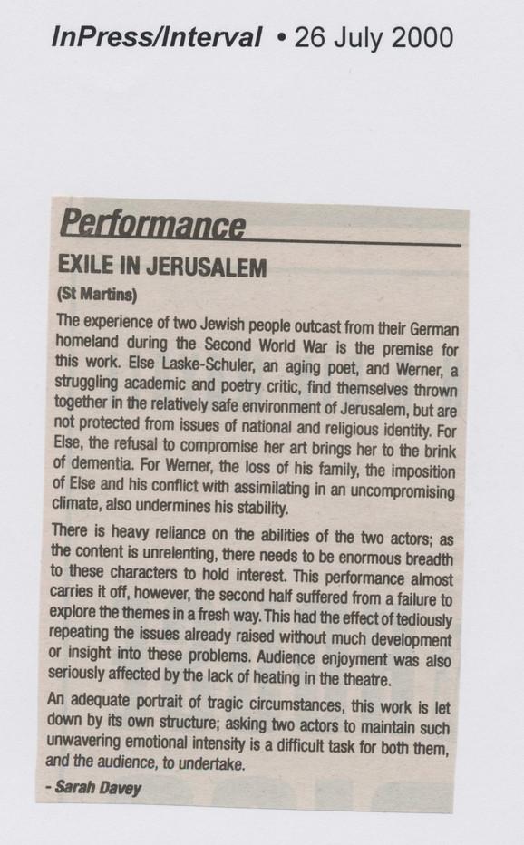 Exile In Jerusalem 2000