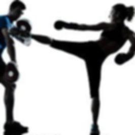 Woman trainng Jeet Kune Do