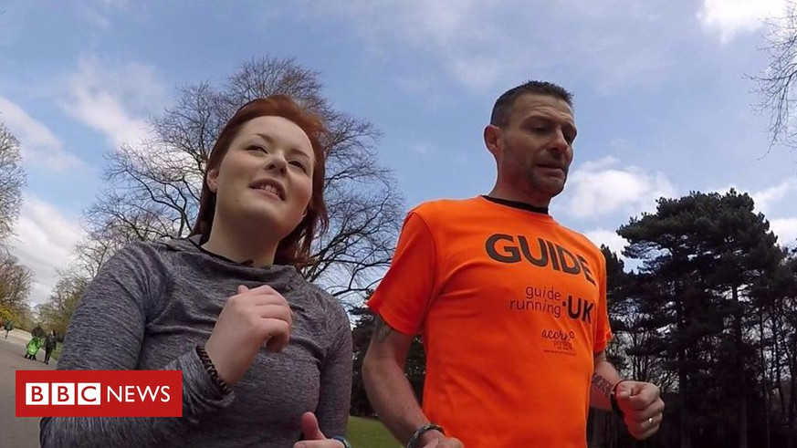 BBC News: 'Running helped me overcome depression after sight loss'