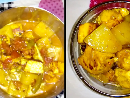 Potato-Paneer : with a very simple & quick recipe