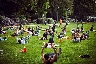 Outdoor Training Übung Bauch