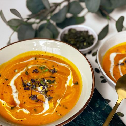 Kürbissuppe mit Kokosmilch: Zubereitet in unter 20 Minuten