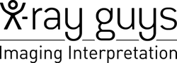 black and white x-ray guys logo