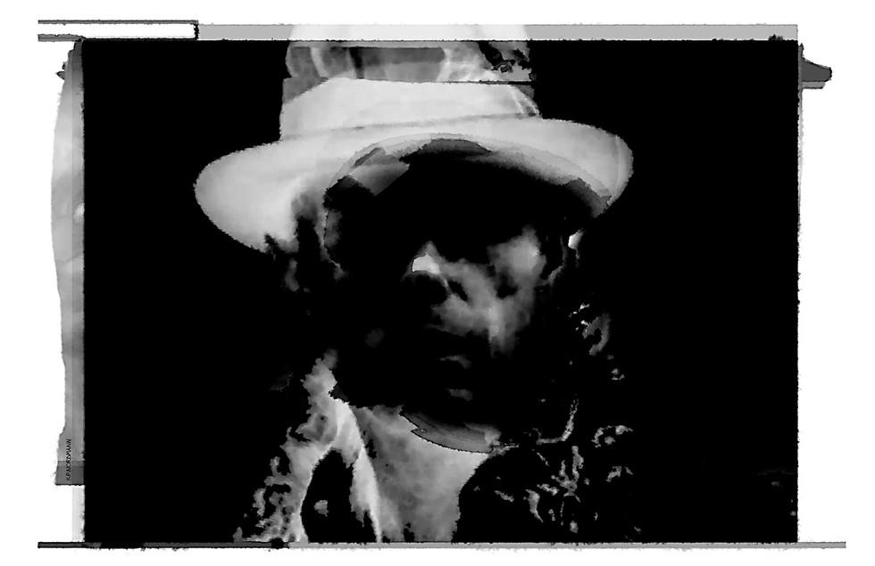 """© K.P. Nordmann - """"Bade im Mondlicht..."""", Portrait Joseph Beuys, 2014."""