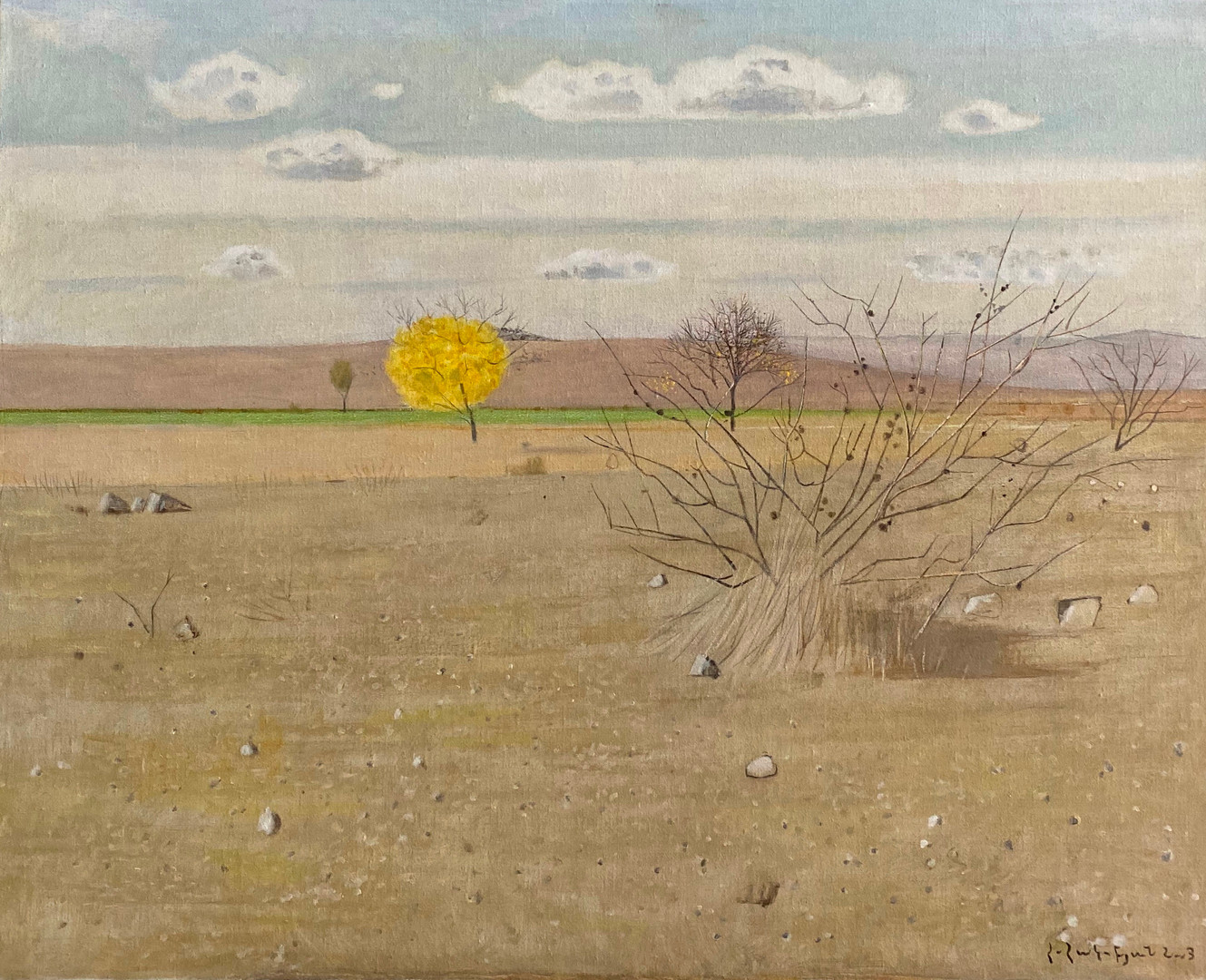 Landscape With Yellow Tree