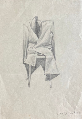 Coat on Chair Pencil