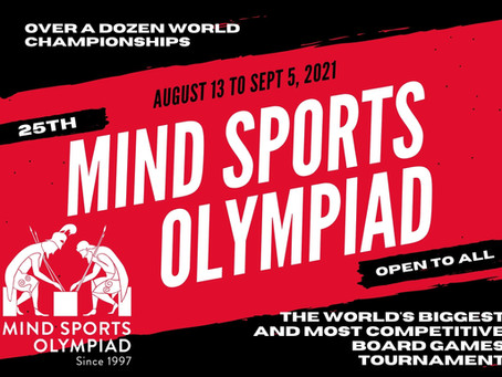 Mind Sports Olympiad 2021 Continue Online