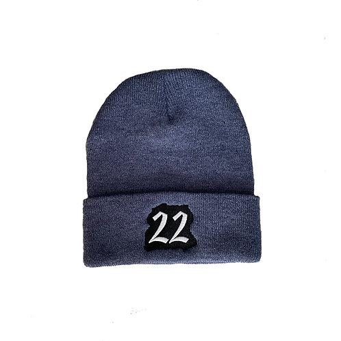 TwentyTwo beanie (heather blue)