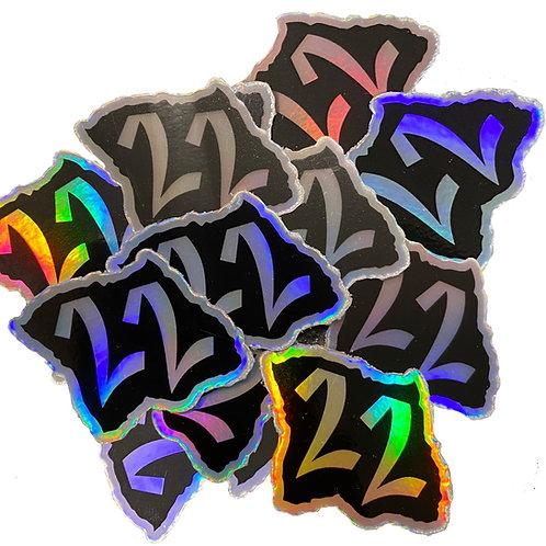 TwentyTwo holographic sticker