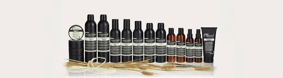 Gamme de produits pour le coiffage et styling des cheveux de la marque Togethair vendu en Suisse par Harrys Professional