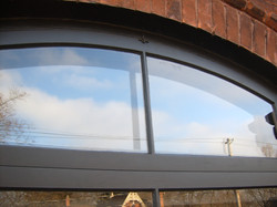 Wood Arched Storm Windows