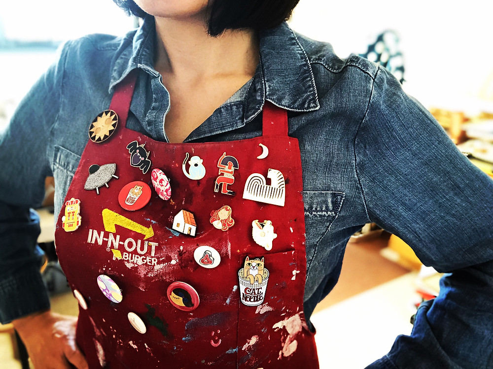 Every great art teacher has an amazing apron; I'm aspiring to be a good one!