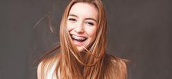 Braces straight smile teen girl