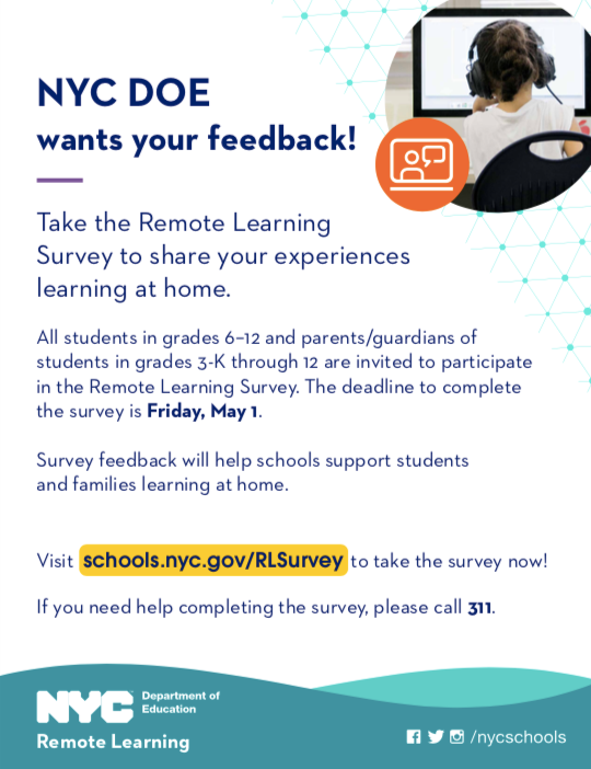 Remote Learning Survey Flyer