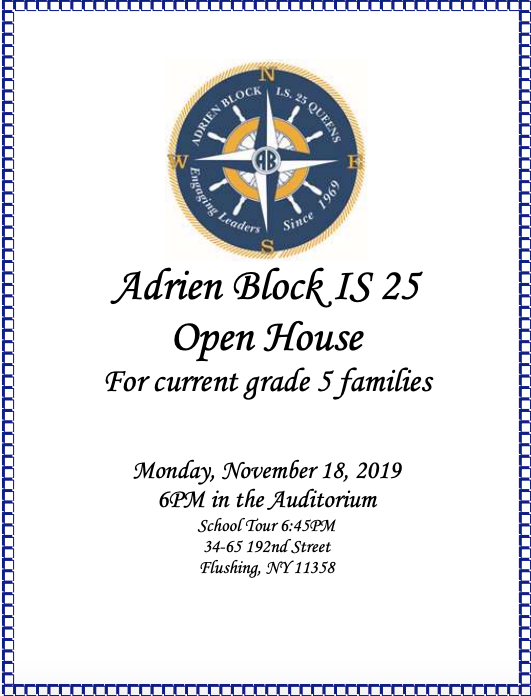 Open House for Current 5th Graders