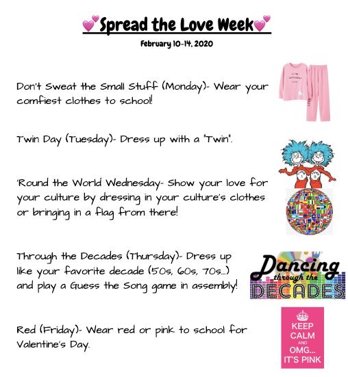 Spirit Week - February 10-14, 2020