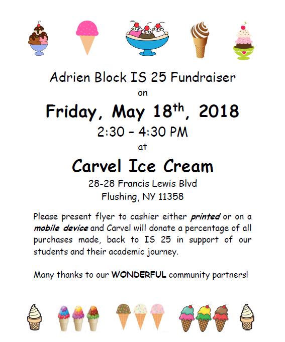 Carvel Ice Cream Fundraiser