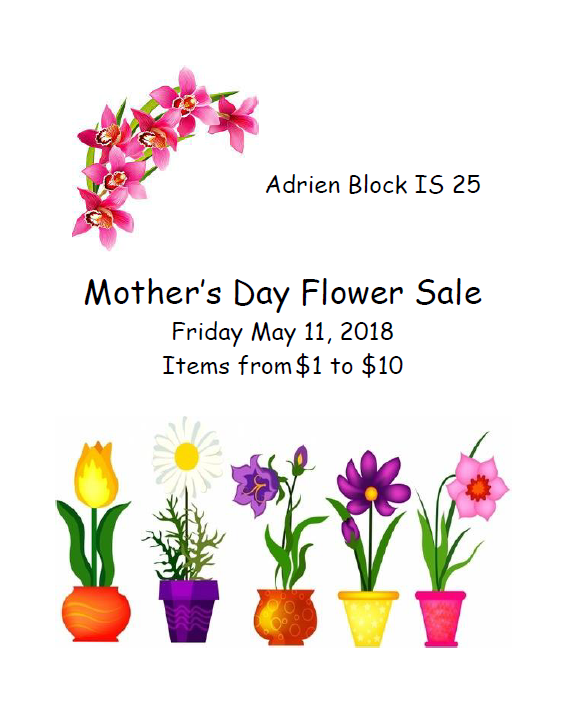 PTA Mother's Day Flower Sale
