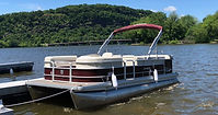 Pontoon Boat Rental at Lake Auguta Boat Rentals in Sunbury, PA