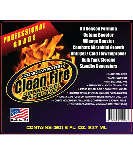 Case of (20) 8 Ounce Foil Packs of Clean Fire