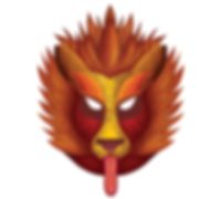 Lion mask, digital painiting lion, kukeri festival bulgarian wines, packaging design