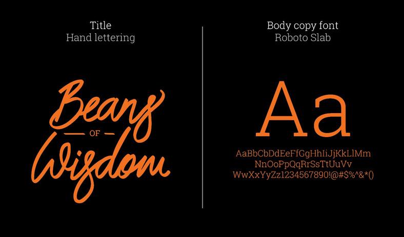 Typography - Beand of wisdom
