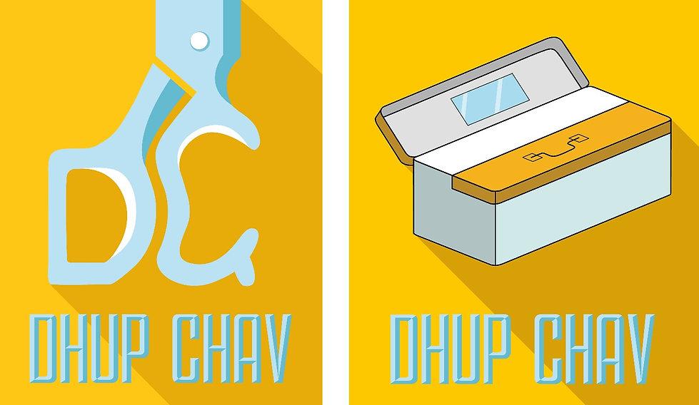 Barber logo, mumbai barber logo, dhup chav mumbai, branding, logo design, scissor logo
