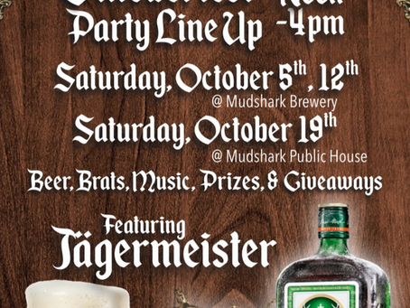 Oktoberfest Party Line Up at the Shark!