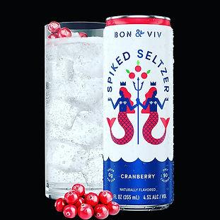 Bon Viv Spiked Seltzer cranberry