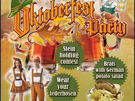 Oktoberfest - Sat Oct 19 @12pm-4pm...