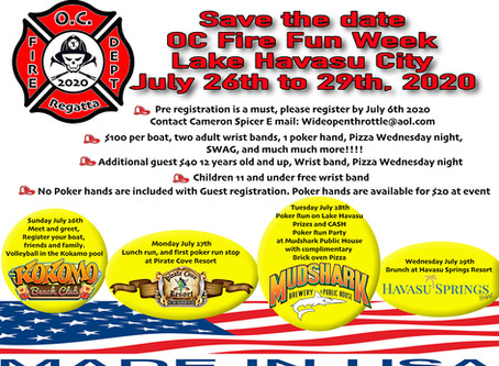 Save the Date... OC Fire Fun Week-July 26th-29th