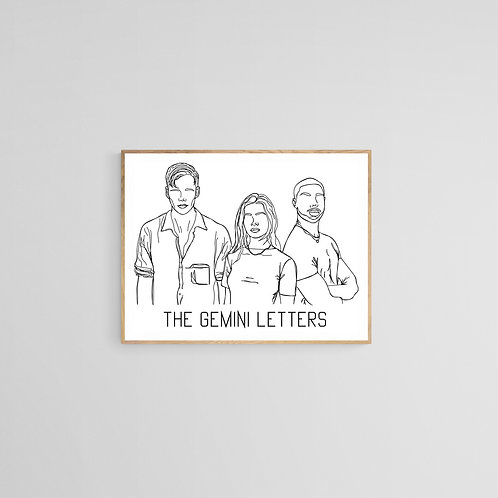 The Gemini Letters trio - Art Board Print